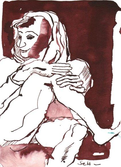 Tarot Karte Der Narr Version 2 , 17 x 13 cm (c) Zeichnung von Susanne Haun