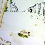 Ausschnitt Boot Eldorado (c) Zeichnung von Susanne Haun