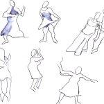 Bewegung und Tanz I (c) Zeichnung von Susanen Haun