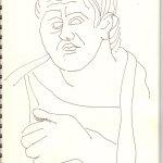 Poseidippos, der Dichter der neuen Komödie (c) Skizze von Susanne Haun