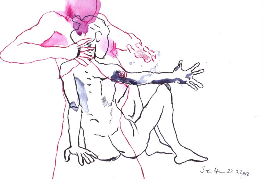 Bewegung und Tanz Bewegung und Tanz VI (c) Zeichnung von Susanen Haun