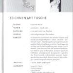 Informationen zum Kurs Susanne Haun 24. Sommerakademie Hohenbusch