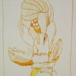 Knospe GELB Version II (c) Detail Zeichnung von Susanne Haun
