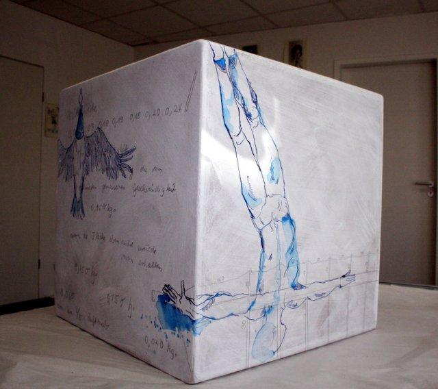 Entstehung unterer Bereich Objekt Otto Lilienthal (c) Konzept von Susanne Haun