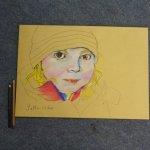 7 Ich schaue von weitem, ob noch etwas fehlt (c) Pastell von Susanne Haun