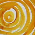 Strudel GELB Version I (c) Detail Zeichnung von Susanne Haun