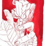 Behütete Rose 17 x 22 cm (c) Zeichnung von Susanne Haun