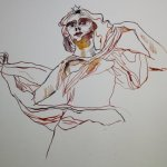 Der Engel Uriel antwortet Henoch (c) Zeichnung von Susanne Haun