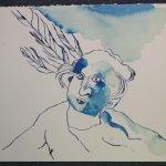 Engel in Blau (c) Zeichnung von Susanne Haun