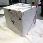 Entstehung Kubus Mars 15 x 15 x 15 cm (c) Susanne Haun