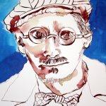 Mein Sinnbild von James Joyce 24 x 32 cm Tusche auf Bütten (c) Zeichnung von Susanne Haun