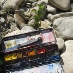 Heute habe ich meinen Aquarellkasten mitgenommen (c) Foto von Susanne Haun