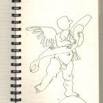 Engel in Florenz (c) Zeichnung von Susanne Haun