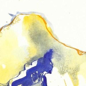 Kristallisierung der Mischung der Tuschen (c) Zeichnung von Susanne Haun