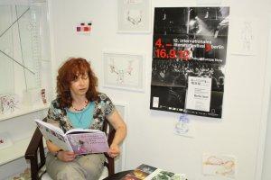 Probe zur Lesung Susanne Haun zum Auftakt des 12. internationalen literaturfestival Berlin