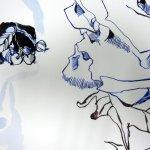 Auge entsteht neben Papierfels (c) Zeichnung von Susanne Haun