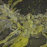 Gerbera 15 x 30 cm Aquatinta 2 Platten (c) Radierung von Susanne Haun