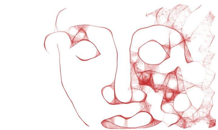 Engelkopf (c) Bildschirmzeichnung von Susanne Haun