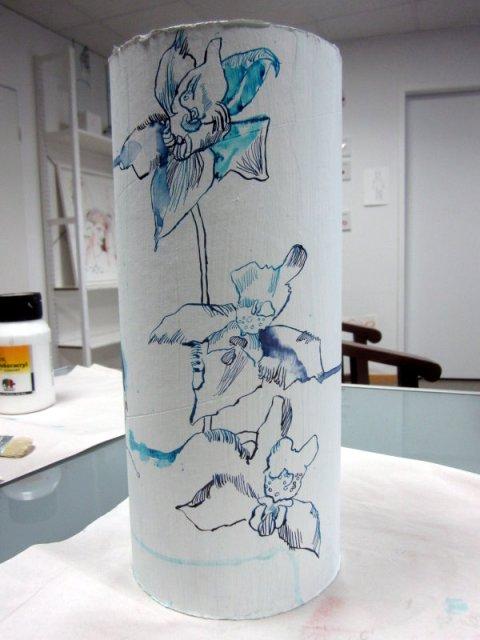 Orchideenranke (c) Zeichnung von Susanne Haun