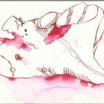Rotes Blütenblatt Version 1 (c) Zeichnung von Susanne Haun