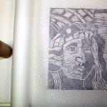 Ich habe weiter geschnitten, der nächste Abdruck erfolgt (c) Foto von Susanne Haun