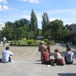 Zu dieser Zeit ist der Hamburger Bahnhof Begegnungsstätte (c) Foto von Susanne Haun