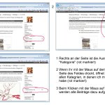 Anleitung zur Auswahl einer Kategorie im Blog (c) Susanne Haun