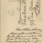 Chere Aline - Postkarte 1911 (c) Foto von Susanne Haun