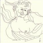 Die geteilte Flora (c) Zeichnung von Susanne Haun