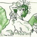 Glücksengel Version 1 (c) Zeichnung von Susanne Haun