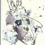 Blatt 40 Zwiesprache (c) Zeichnung von Susanne Haun
