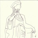 Spe, die Hoffnung 15 x 15 cm (c) Zeichnung von Susanne Haun