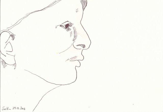 Mein Sinnbild von M.Abromovic (c) Zeichnung von Susanne Haun