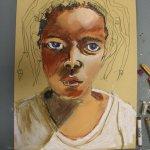 Entstehung der Pastellzeichnung Shorog (c) Susanne Haun