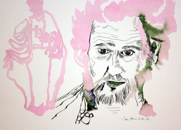 3 Mein Sinnbild von Schlingensief (c) Zeichnung von Susanne Haun