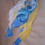 Ausschnitt Mutter und Kind aus Version 3 (c) Skizze von Susanne Haun