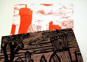 über die rote wird die schwarze Platte gedruckt (c) Foto von Susanne Haun