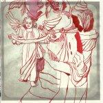 6 Engel Gloria mit Gabriel 30 x 20 cm Tushe auf Bütten (c) Zeich