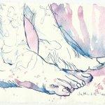 Blatt 62 Der Saum ihres Kleides (c) Zeichnung von Susanne Haun