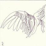 Clarence bekommt Flügel 9teilig (c) Zeichnung von Susanne Haun 2