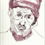 Hirte 17 x 22 cm Tusche auf Bütten (c) Zeichnung von Susanne Haun