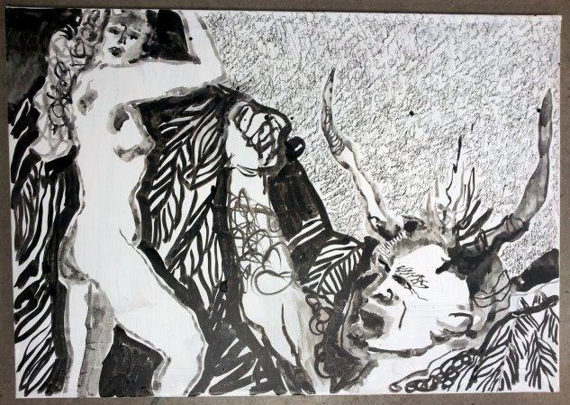 Ein Dämon werde ich, sobald ich erwache - 70 x 100 cm (c) Leinwand von Susanne Haun