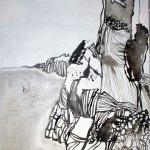 Am Rande der Klippen 100 x 50 cm (c) Leinwand von Susanne Haun