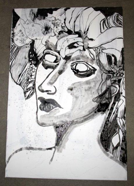 Steinerne Tränen 100 x 50 cm (c) Leinwand von Susanne Haun