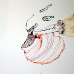 Entstehung rote Tulpe Vers. 2 (c) Zeichnung von Susanne Haun