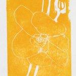 Ich beginne mit einem gelben Druck und wenig Linien (c) Foto von Susanne Haun
