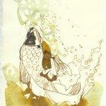 Blatt 82 Weine fliessen Fische zucken (c) Zeichnung von Susanne Haun