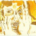 Blatt 85 Das Gesicht will ich mir mit Goldstaub einreiben (c) Zeichnung von Susanne Haun