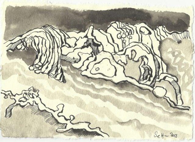 Blatt 120 Die Macht der Natur (c) Zeichnung von Susanne Haun