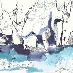 Blatt 3 Gletscherzunge (c) Zeichnung von Susanne Haun